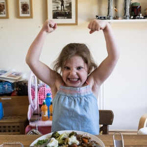 Florence showing off her muscles