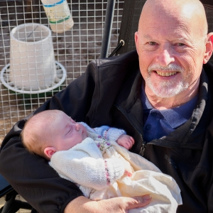 Enid with her Grandad