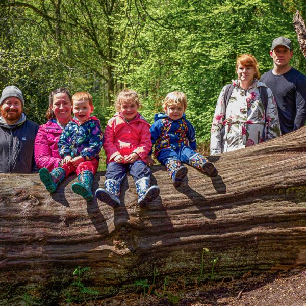 Family at Savernake Forest